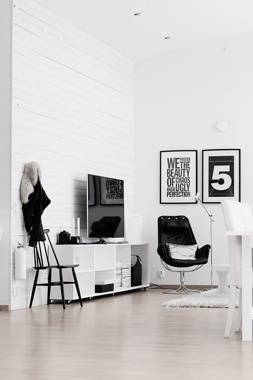 black and white home decor ideas