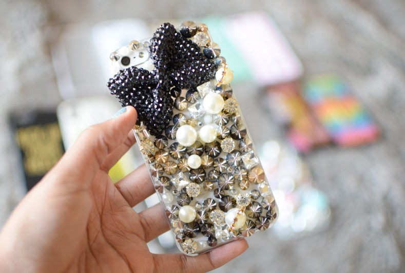 Claire's Bedazzled Edgy Studded iPhone Case