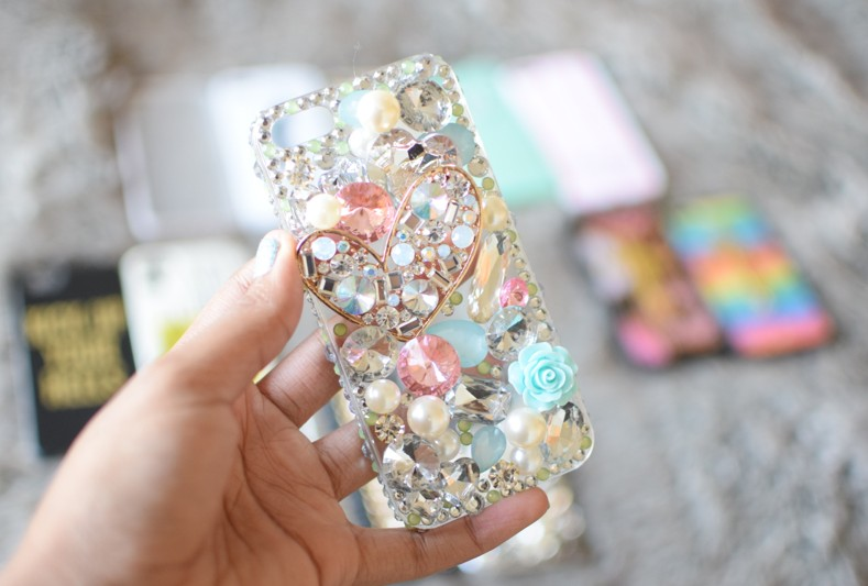 Claire's Bejeweled Pearl Girly iPhone Case