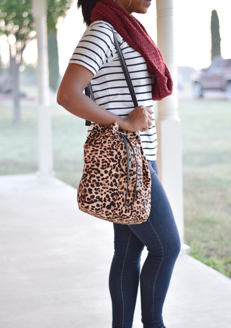 Topshop Stripes and Leopard Print-3
