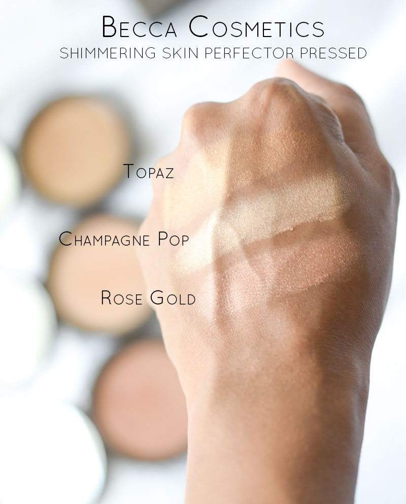 Becca Cosmetics Shimmering Skin Perfector Pressed Swatches