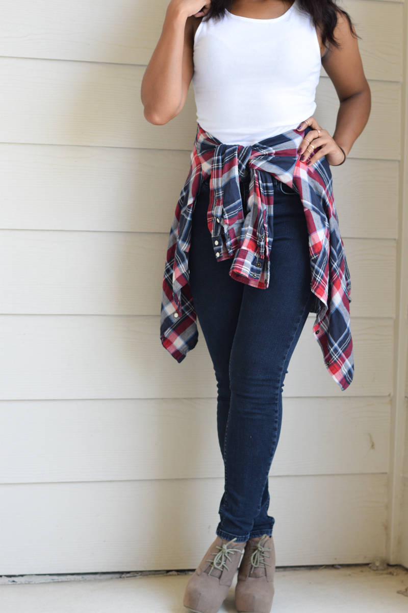 styling crop tops and flannel