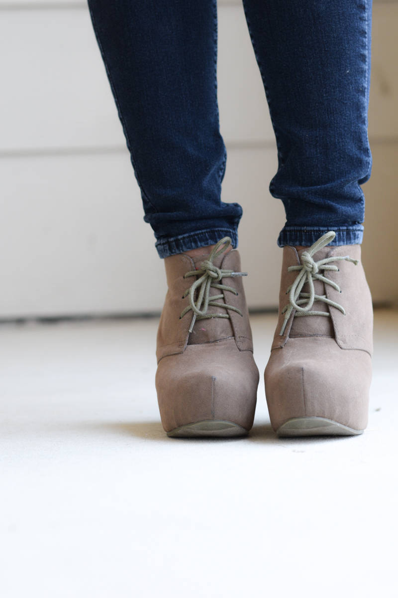 neutral nude lace booties
