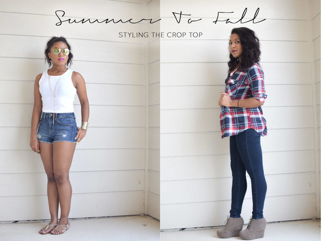 styling the crop top for fall