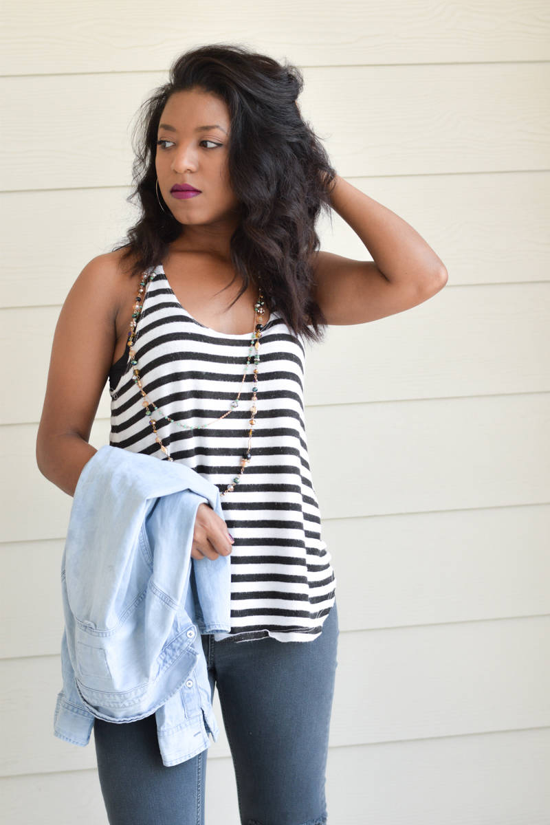 Striped-Top-and-Chambray