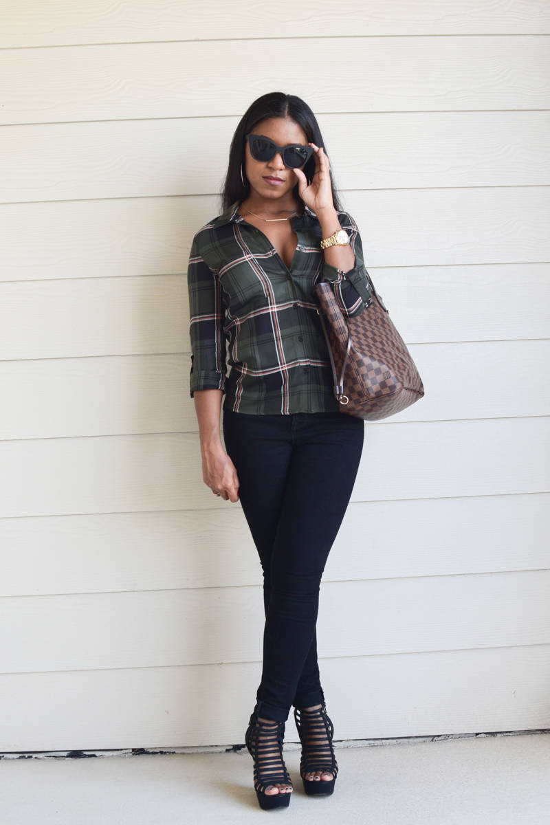 Olive-Plaid-and-Wedges-OOTD