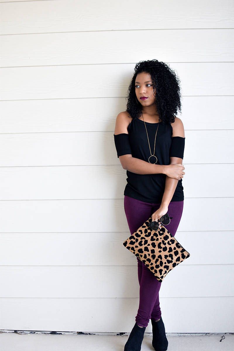Ankle-Booties-and-Printed-Clutch-4
