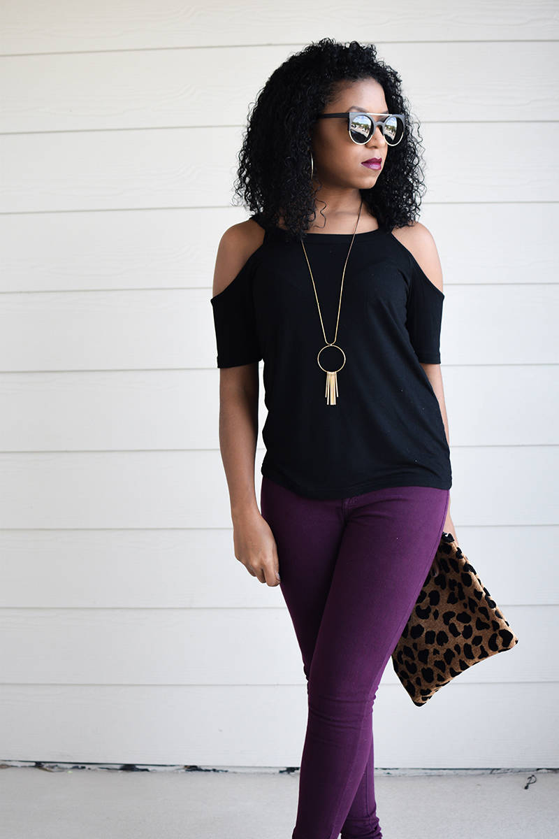 Ankle-Booties-and-Printed-Clutch-9