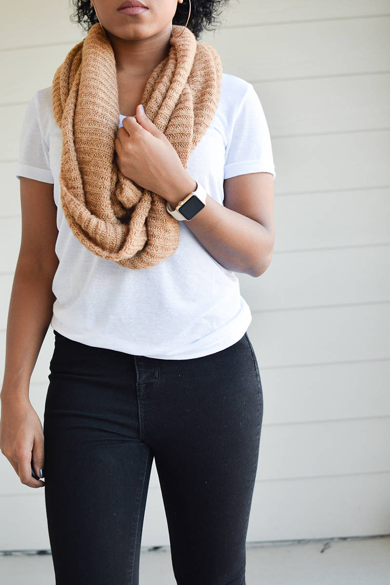Black-Jeans-and-Caramel-Scarf-1