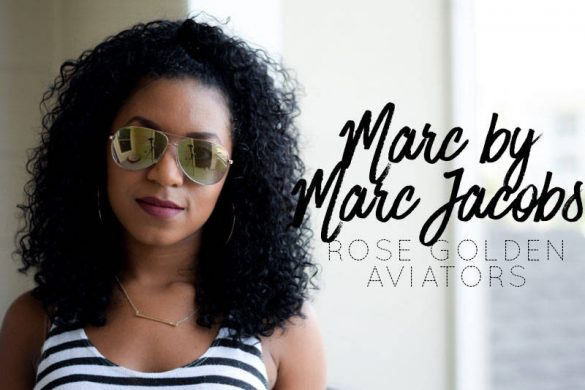 Marc by Marc Jacobs Rose Golden Aviators Try On