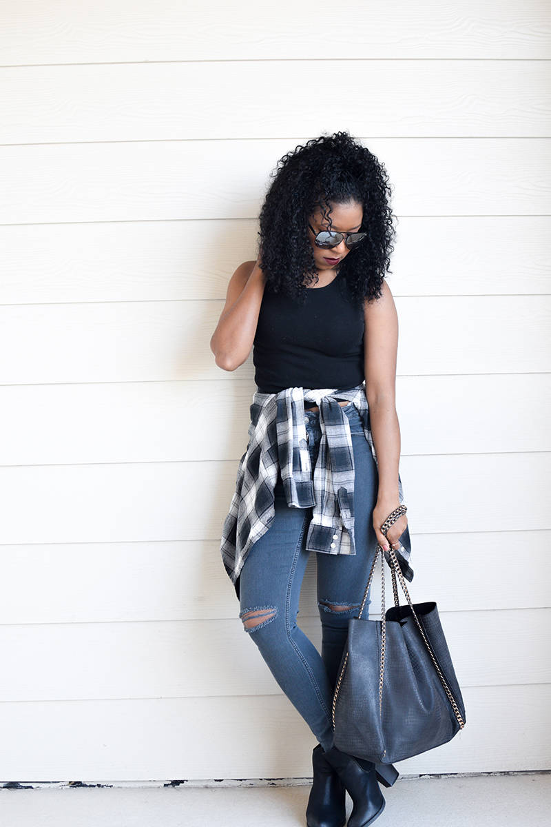 Styling black and white flannel