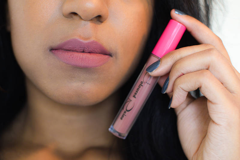 Coloured Raine Matte Lip Paint Mars on Dark Skin