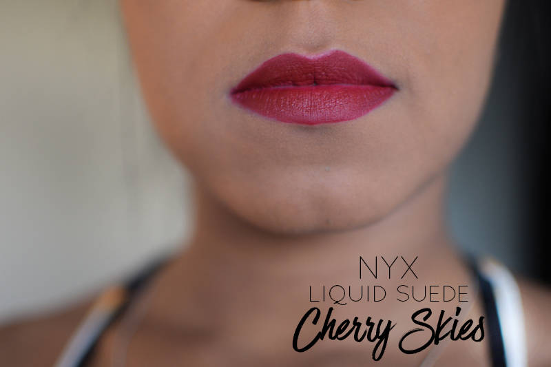 NYX-Liquid-Suede-Cherry-Skies-on-Dark-Skin