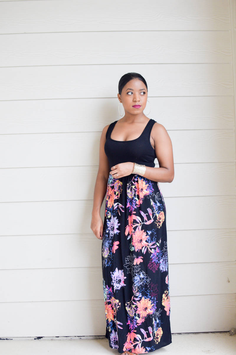 The Targert Floral Print Maxi Dress-1