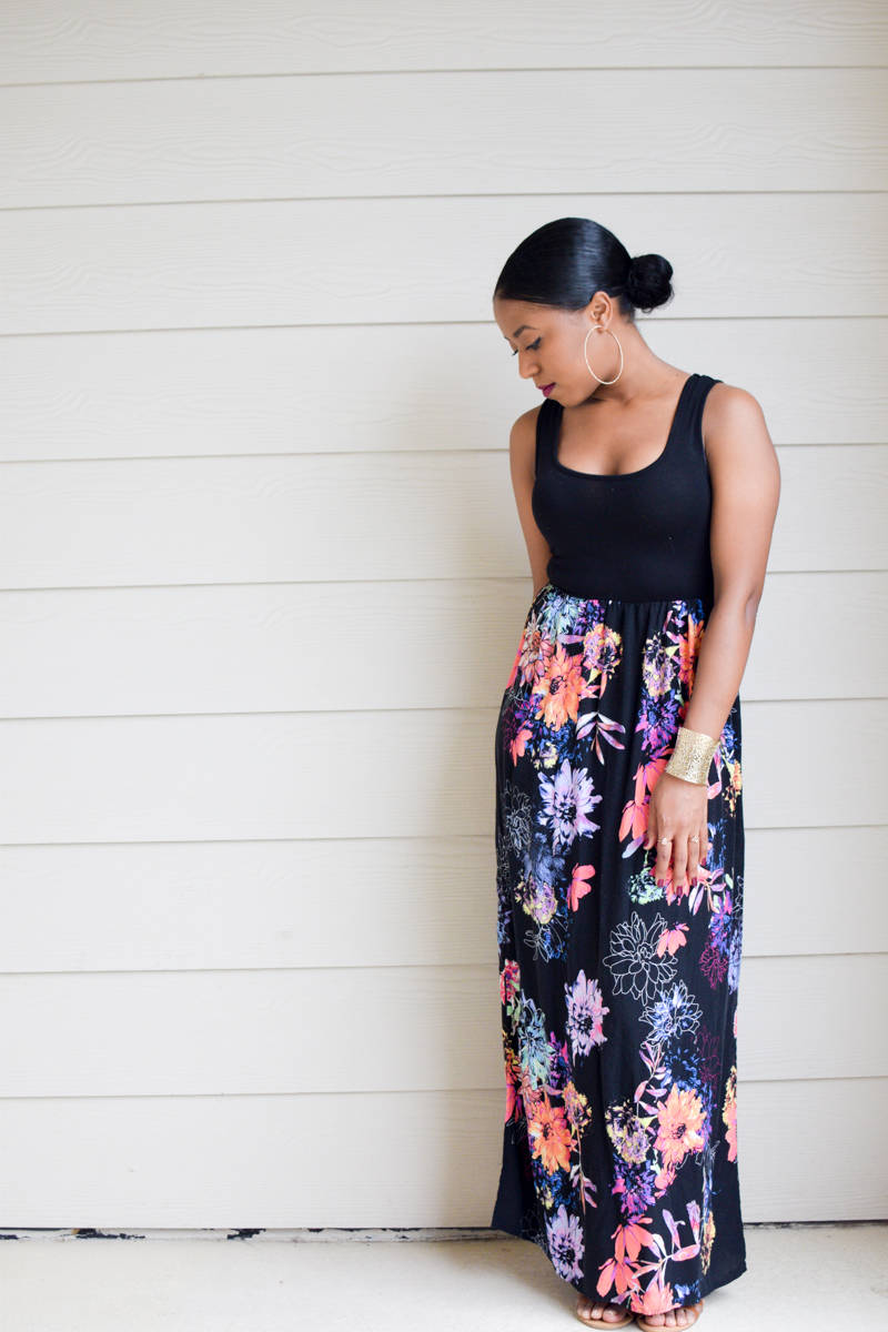 The Targert Floral Print Maxi Dress-4
