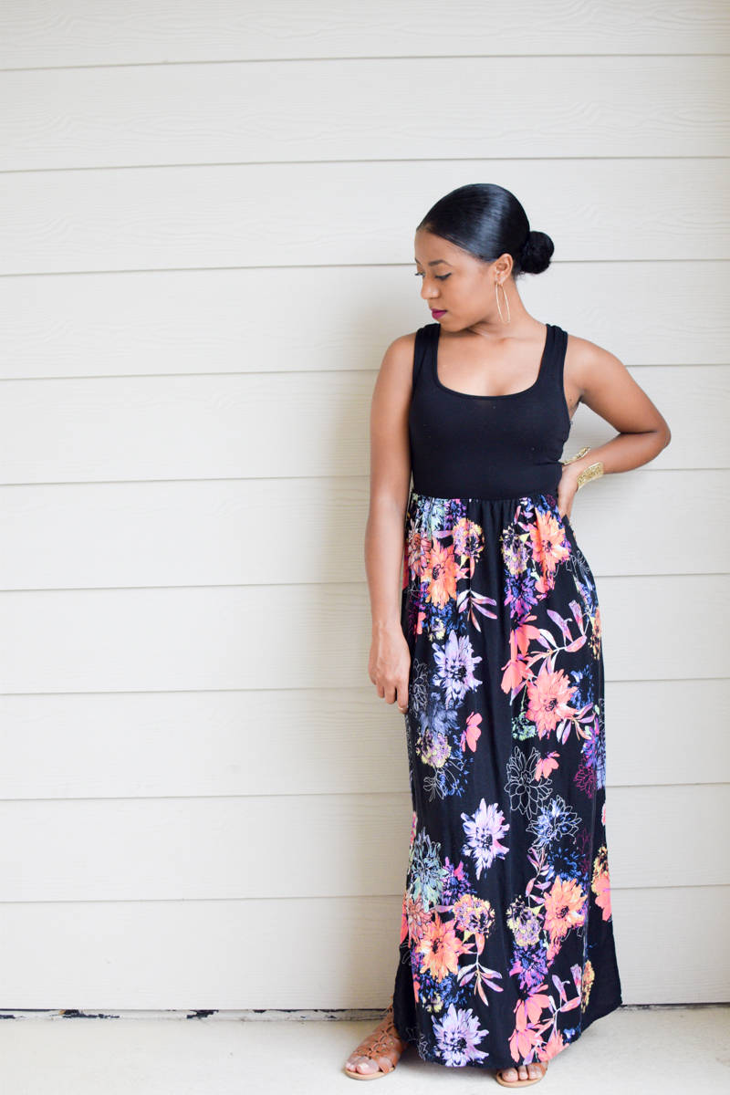 The Targert Floral Print Maxi Dress-5