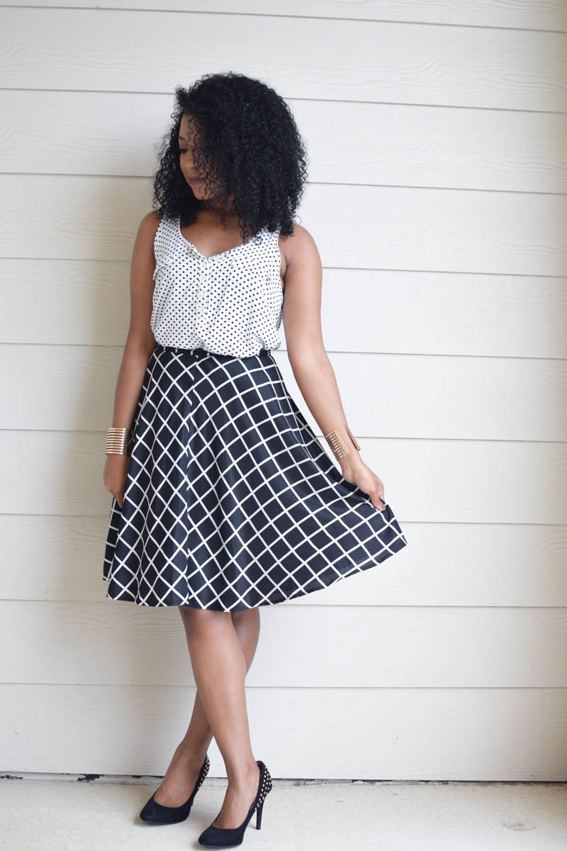 Grid-Print-Skirt-and-Polka-Dot-Tank-4