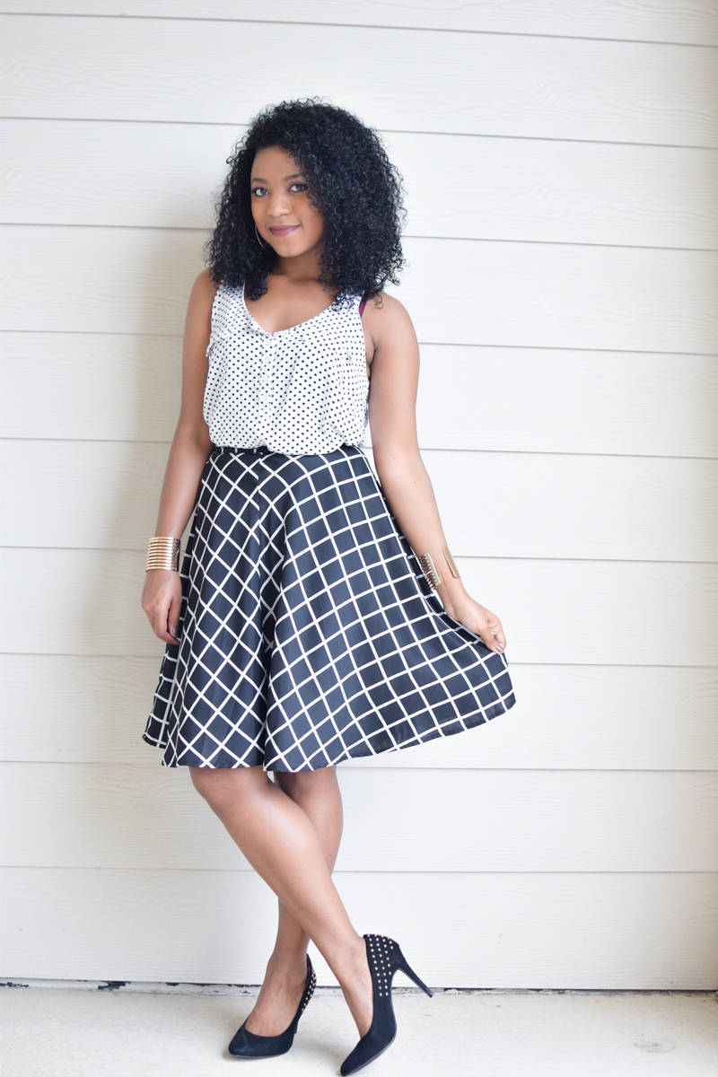 Grid-Print-Skirt-and-Polka-Dot-Tank-5
