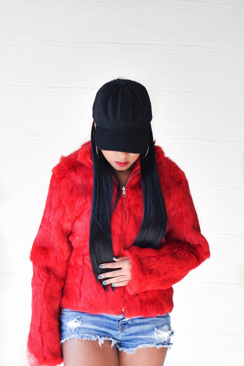 Rihanna Inspired YSL Red Coat Outfit