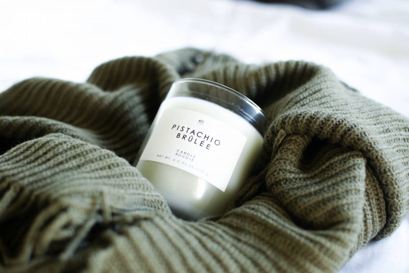 Cozy Essentials for Winter - Gourmand Pistachio Brulee Candle from Urban Outfitters