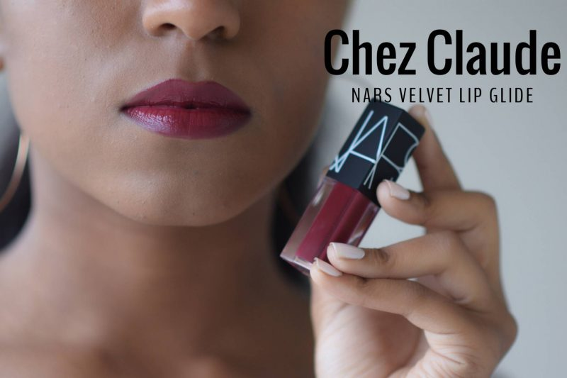 Nars velvet lip glide swatches chez claude on dark skin