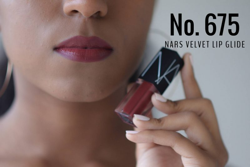 Nars velvet lip glide swatches no 675 on dark skin