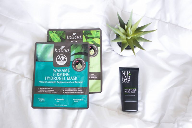Winter Self-Care Tips with Nip and Fab Viper Venom Micro Blur Fix and Boscia Hydrogel Face Masks