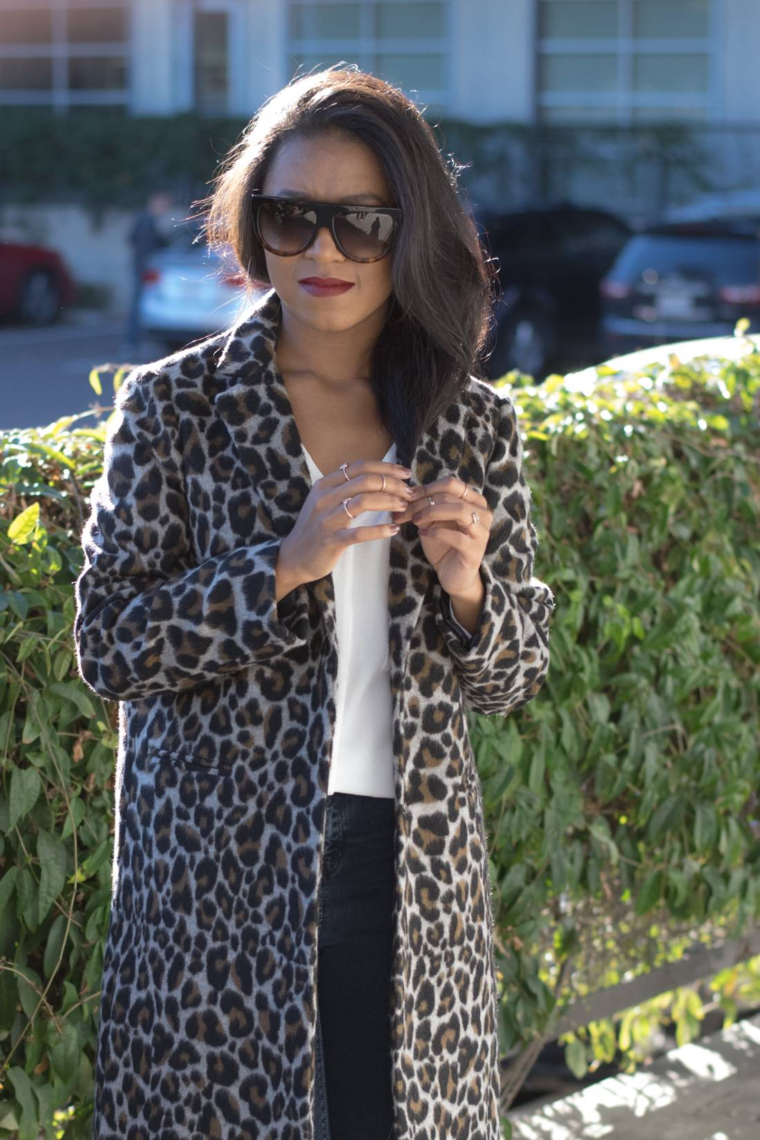 52df8ae77cfe How to Style Leopard Coat feat Topshop Long Coat and Celine Sunglasses-1 ...