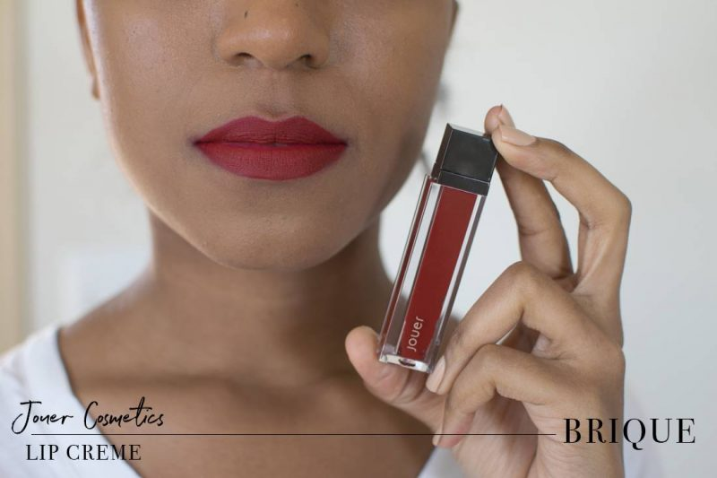 Jouer Lip Creme Brique Swatch on Dark Skin