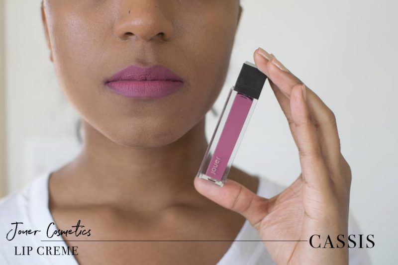 Jouer Lip Creme Cassis Swatch on Dark Skin