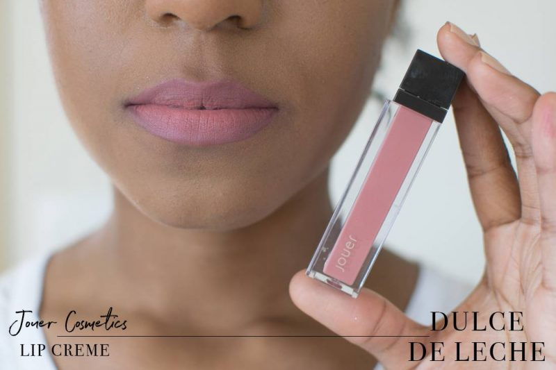 Jouer Lip Creme Dulce de Leche Swatch on Dark Skin