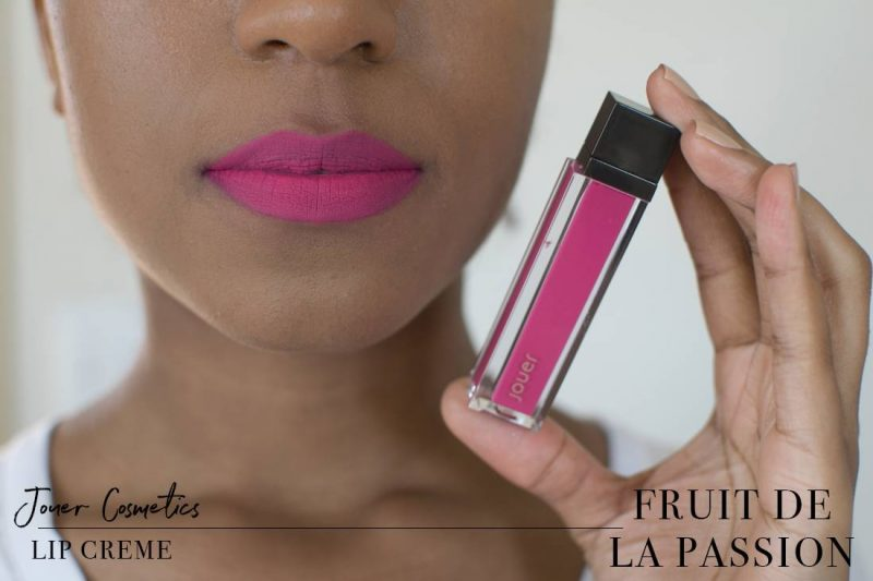 Jouer Lip Creme Fruit de la Passion Swatch on Dark Skin
