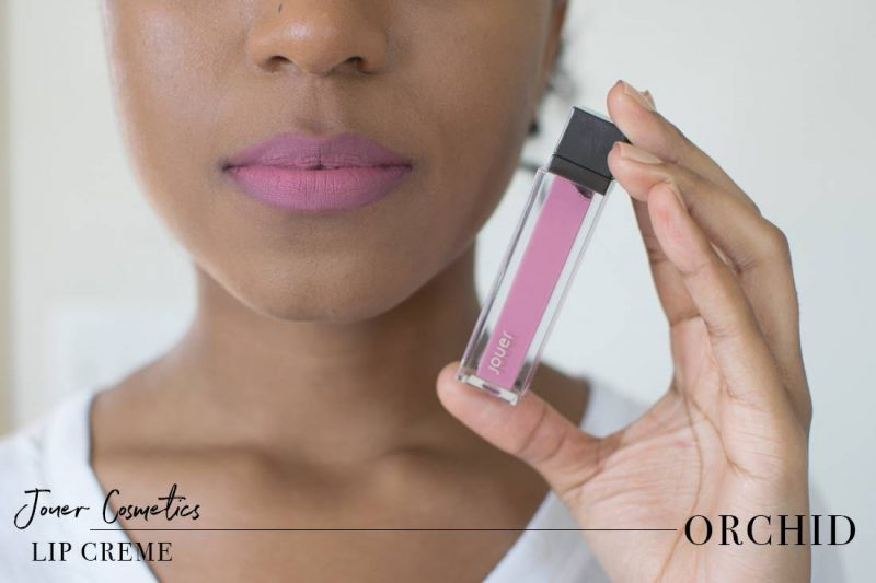 Jouer Lip Creme Orchid Swatch on Dark Skin