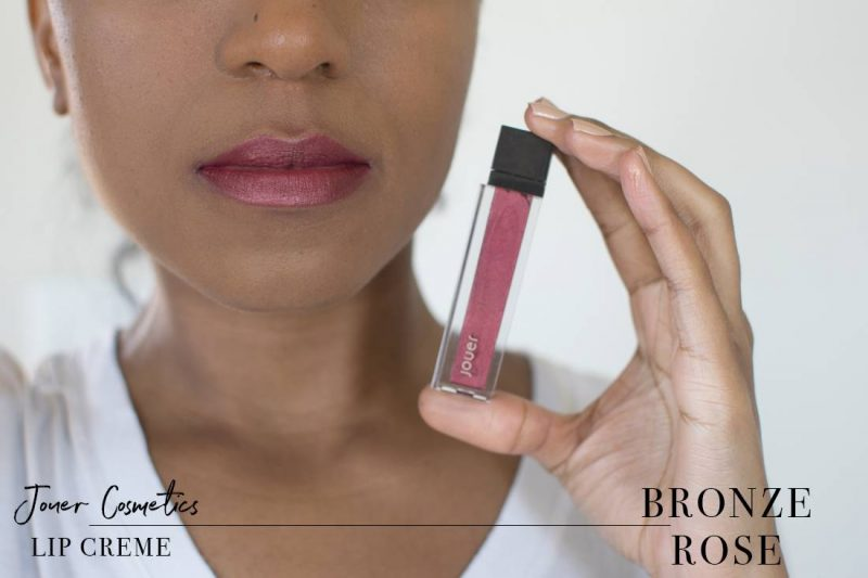 Jouer Metallic Lip Creme Bronze Rose Swatch on Dark Skin