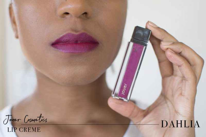 Jouer Metallic Lip Creme Dahlia Swatch on Dark Skin