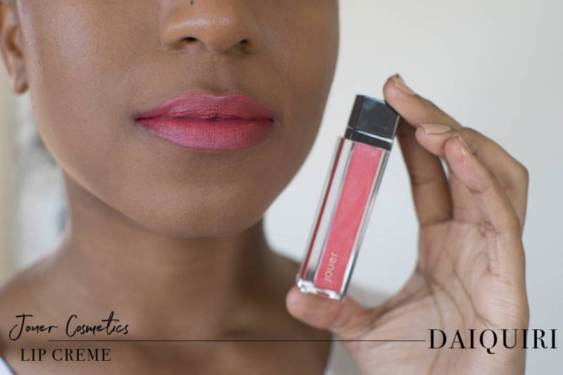 Jouer Metallic Lip Creme Daiquiri Swatch on Dark Skin