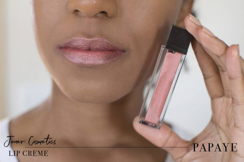 Jouer Metallic Lip Creme Papaye Swatch on Dark Skin
