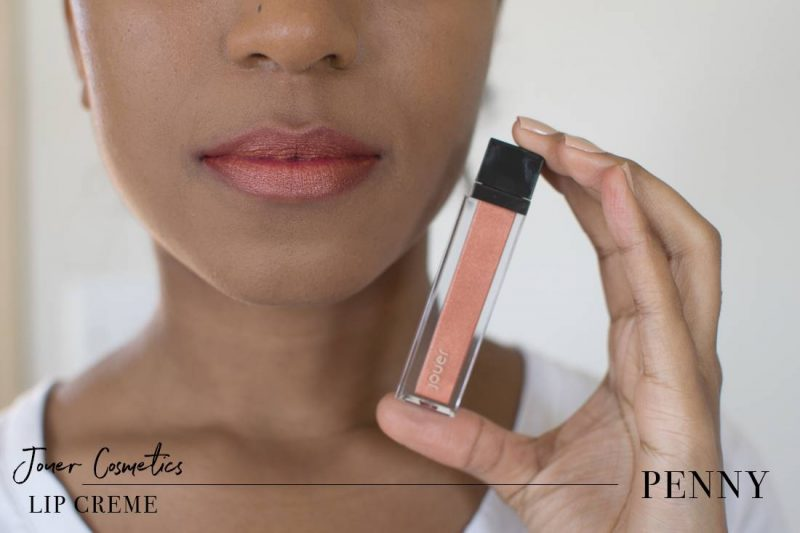 Jouer Metallic Lip Creme Penny Swatch on Dark Skin