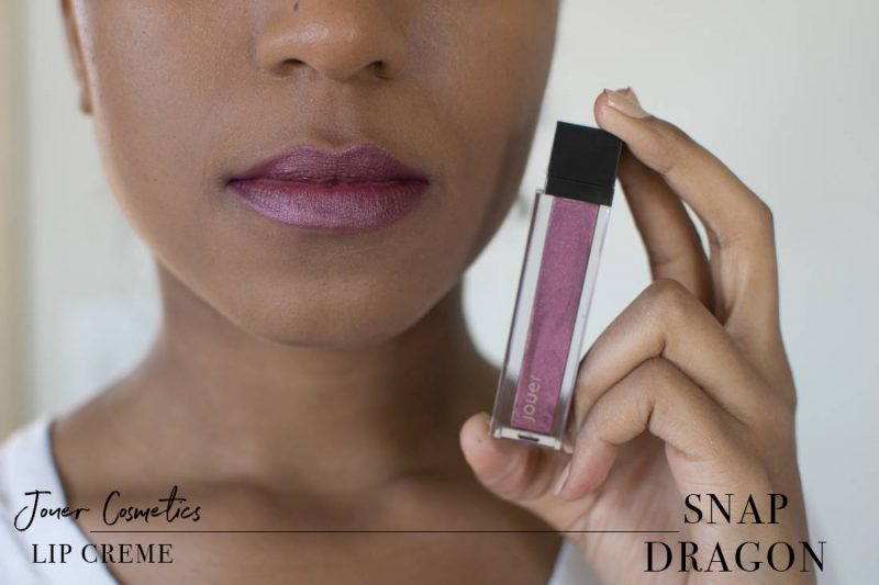 Jouer Metallic Lip Creme Snapdragon Swatch on Dark Skin