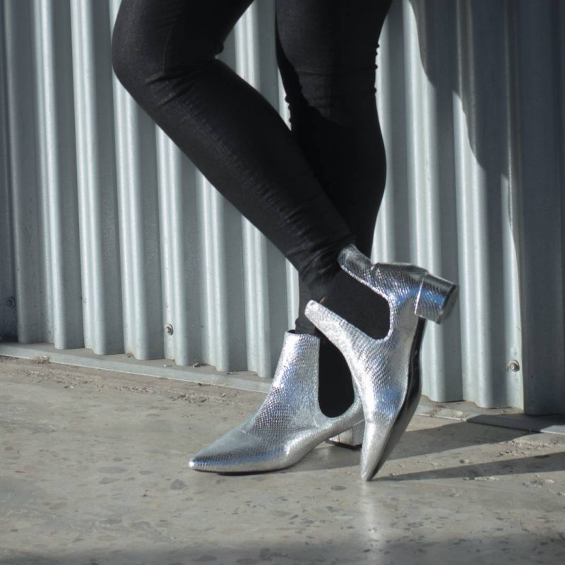 Saint Laurent Inspired | Topshop Silver Boots