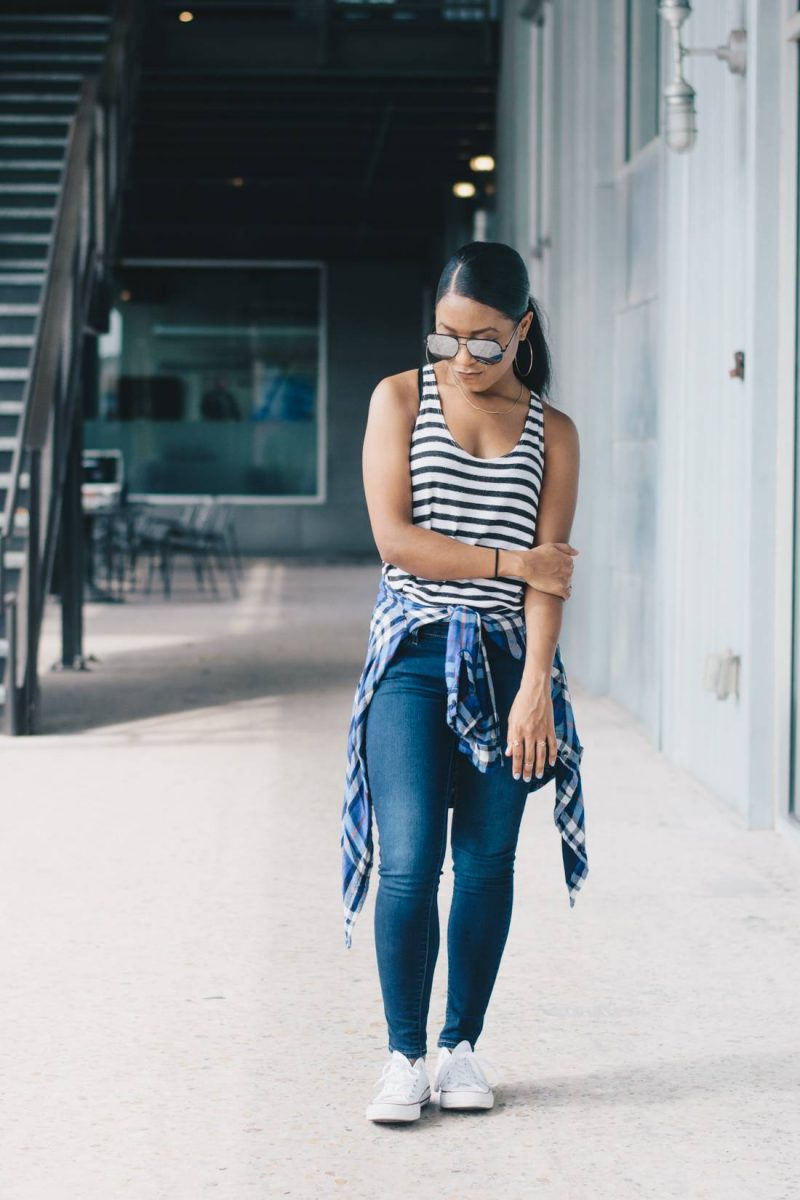 How I Casually Mix Prints with Plaid and Stripes-1