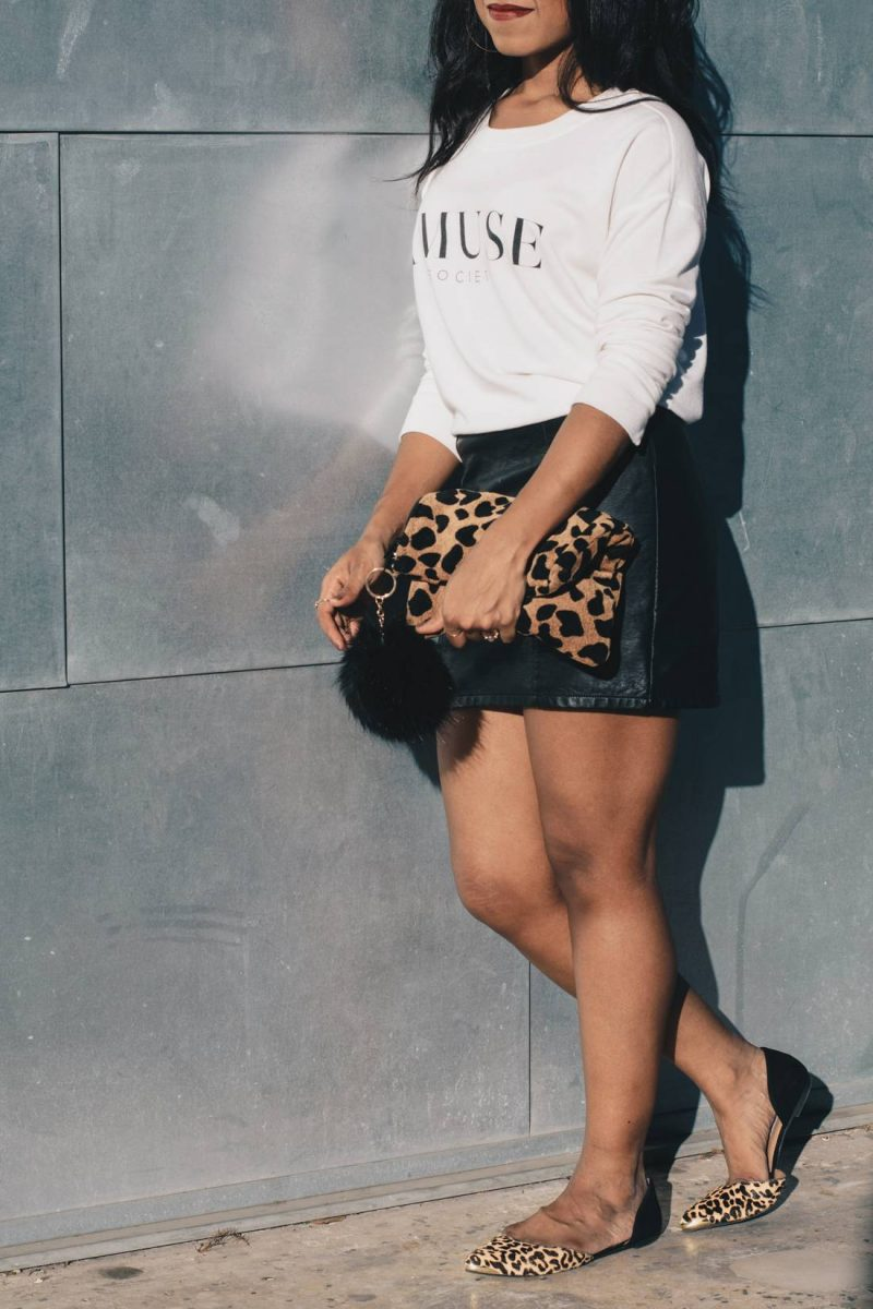 Leather Skirt and Leopard-1