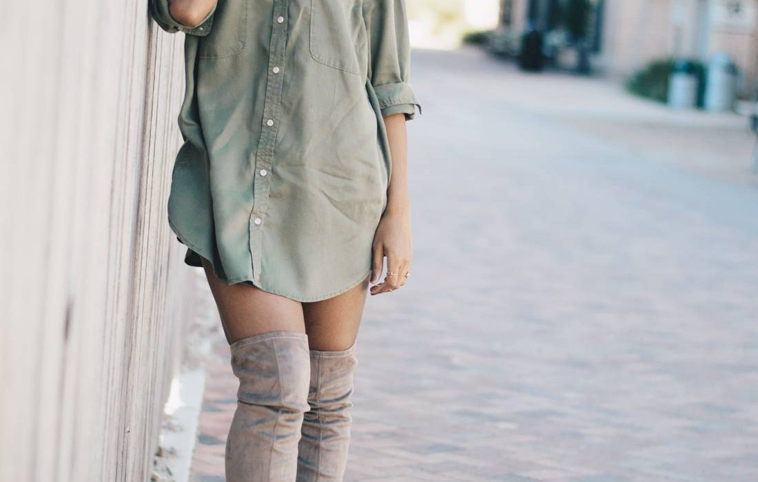 The Olive Shirt Dress
