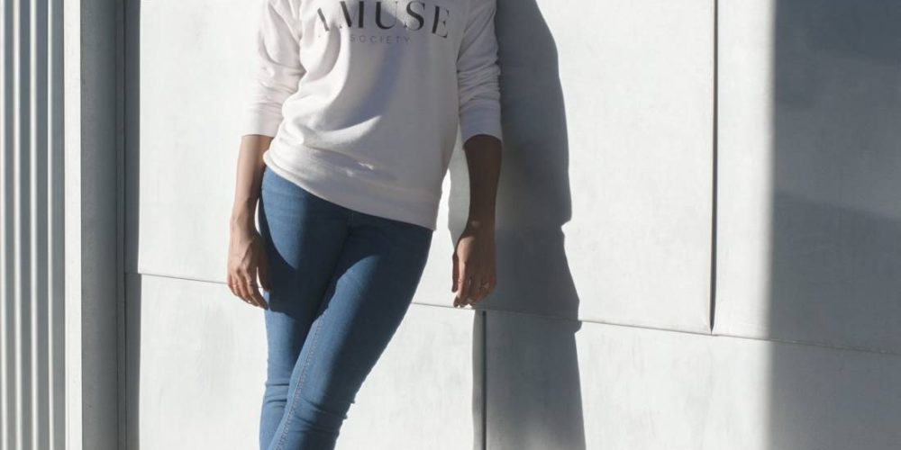 Sweatshirt and Heels | A Casual Outfit Mix