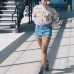Spring Floral and Denim Shorts-1
