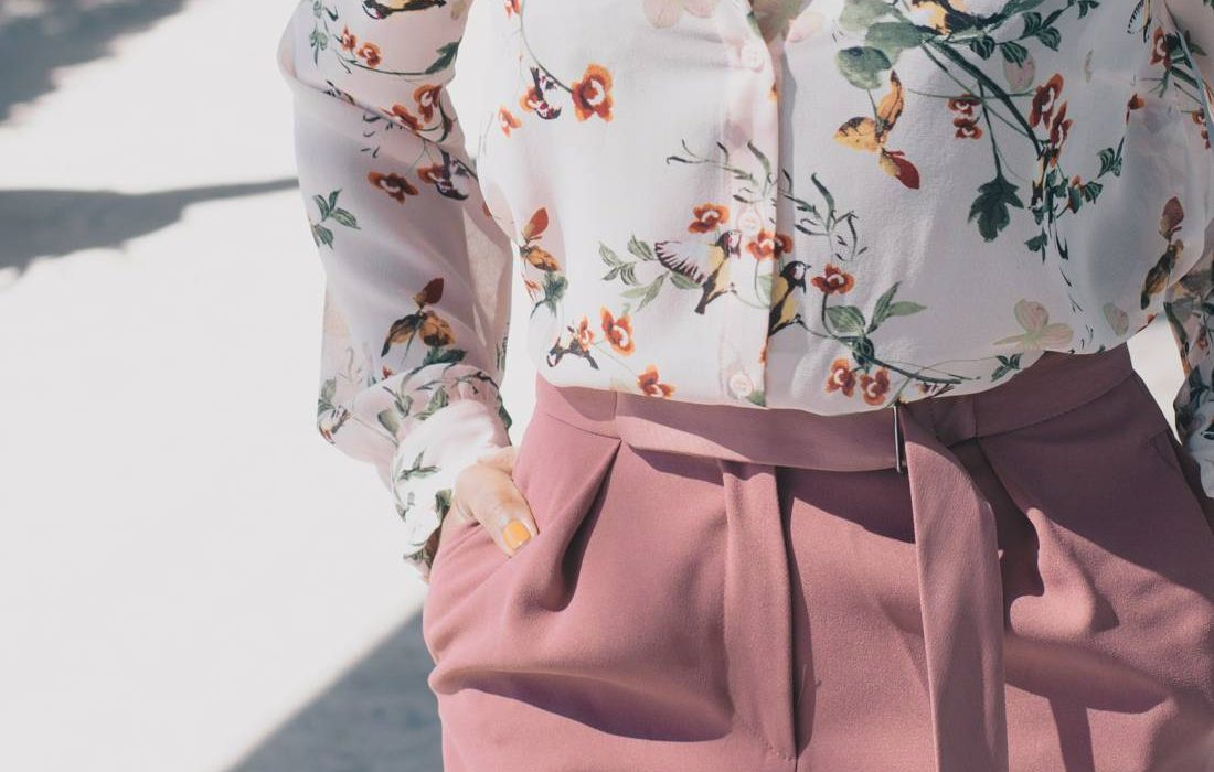 Spring Office Style | Floral Print + Blush Tones