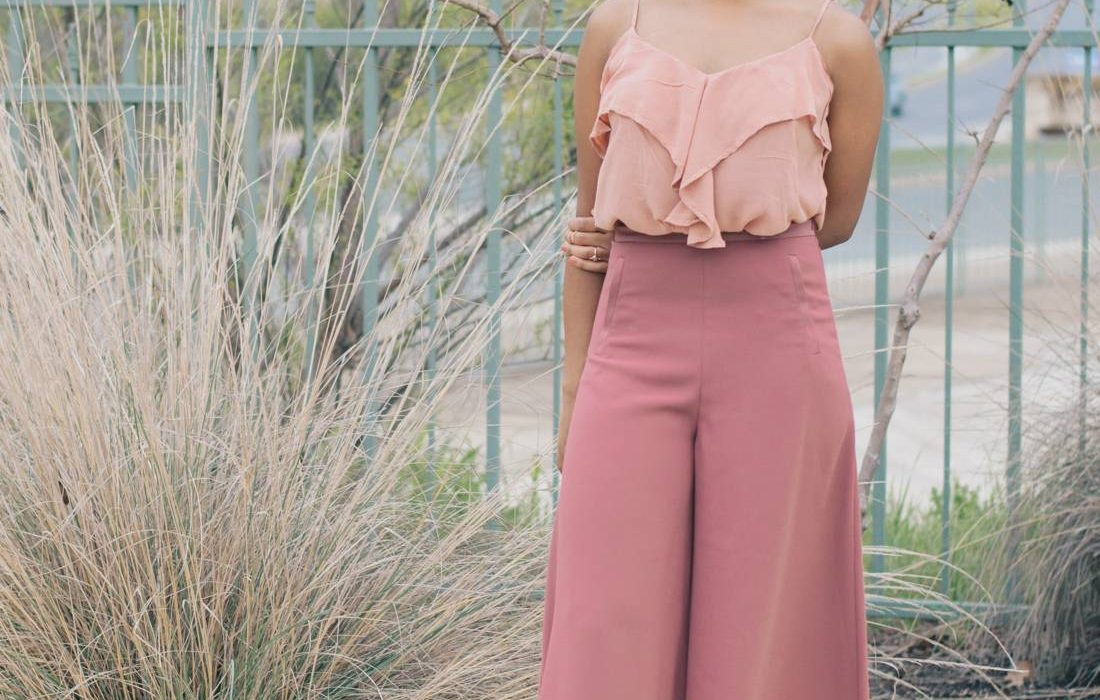 Office Style | All Pink + Wide Trousers