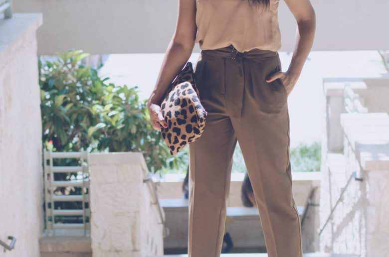 Neutral Office Look Topshop Trousers