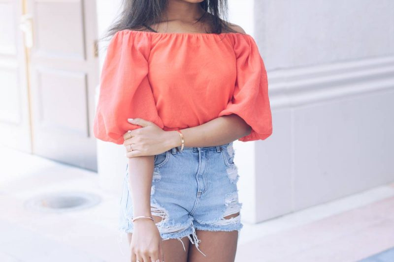 Zara Off the Shoulder Top-1