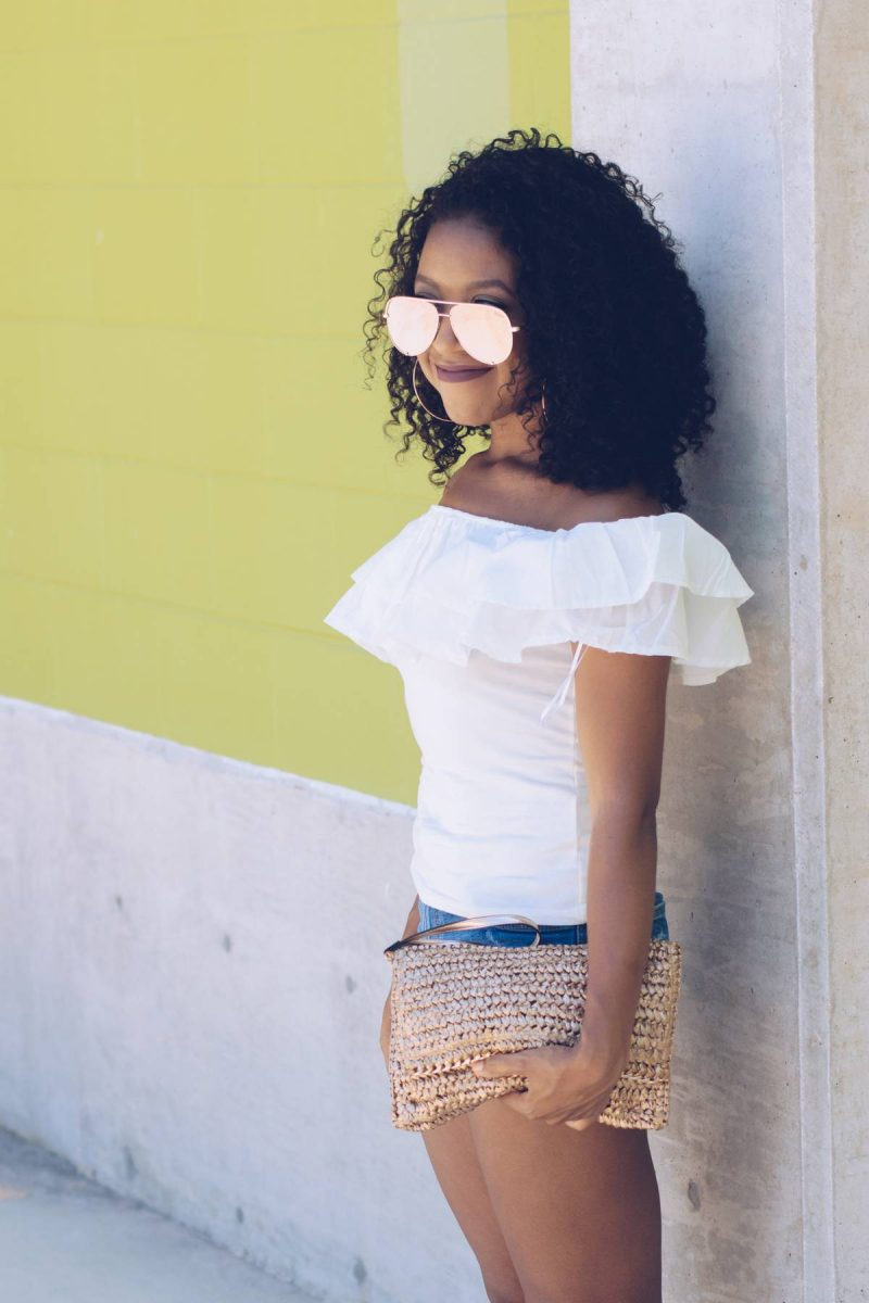 Off the Shoulder Ruffles Summer Outfit-1